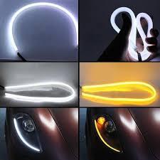 car led light strip 2pcs 60cm silicone led strip lights headlights halo daytime