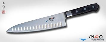 mac kitchen knives professional series 8 chef s knife with dimples mth 80 mac knife