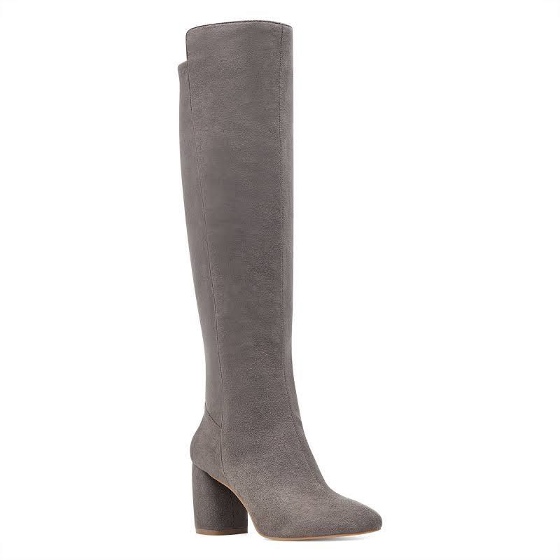 Nine West Kerianna Knee High Pull-On Boots, Grey, 10.5 US