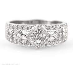 wedding rings vintage vintage style wedding ring interwoven with modern setting