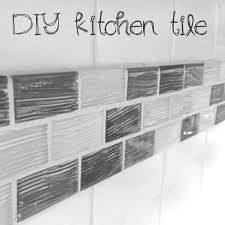 diy kitchen backsplash quick fix over existing tile just