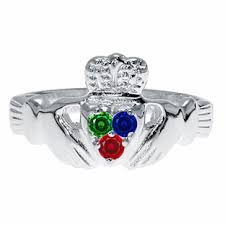 personalized birthstone jewelry white gold claddagh personalized birthstone ring jewelry