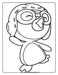 coloring pages penguins children penguin printable animal kids