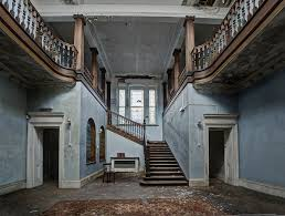 staircase in abandoned what a lovely place this must have