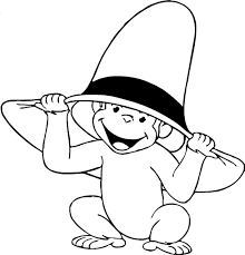 simple curious george coloring caafcfbaeabbda coloring