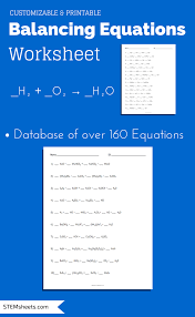balancing chemical equations worksheet that you can customize and