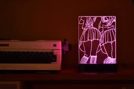 skirts anime acrylic 3d led table lamp bedroom night light