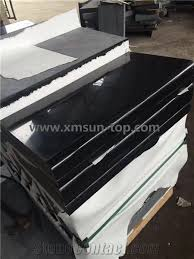black staircase polished china g684 black basalt steps pearl black stair riser