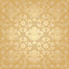 seamless beige victorian wallpaper with floral pattern vector