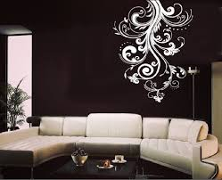 living room wall stickers living room wall art cheap home decor white flower vine wall