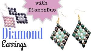 earrings ideas beading ideas diamond earrings with diamonduo