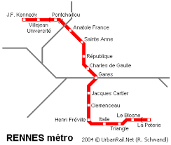 rennes map rennes subway map for metro in rennes high resolution