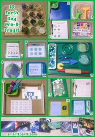 16 earth day preschool trays