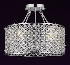 shade crystal chandelier g7 b12 white 2130 4 gallery chandeliers flushmount 4 light chrome