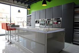 ex display kitchen island large schuller grey and glass matt lava ex display kitchen