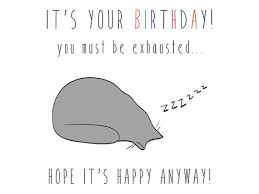 items similar to printable cat birthday card introvert
