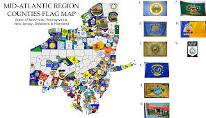 New Jersy Flag Mid Atlantic States County Flag Map Vexillology