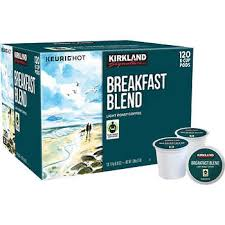 keurig k cups light roast kirkland signature breakfast blend coffee light roast 120 k cup pods