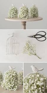 baby s breath centerpiece diy wedding crafts birdcage baby s breath centerpiece diy
