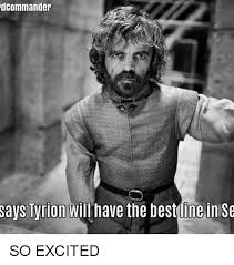 Excited Meme - commander says lyrion will have the best line in so excited meme