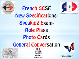 new specifications french gcse speaking exam photo cards by