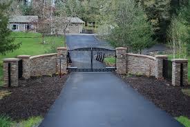 driveway landscaping ideas pictures farm entrances ranch gates