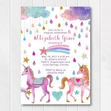 birthday invitations glitter unicorn birthday invitations gold birthday invitation
