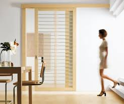 modern interior sliding big and wide door with striped pattern