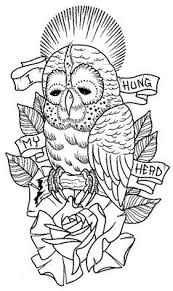 coloring pages tattoos 260 best owl coloring pages for adults images on pinterest