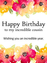 birthday cards for cousin birthday u0026 greeting cards by davia