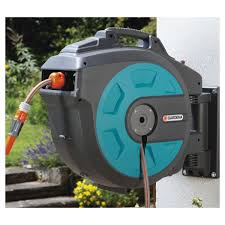water hose reel wall mount gardena automatic roll up wall mounted hose reel ace