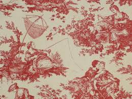 and now for crimson blood red swatches of fabulous red toile red