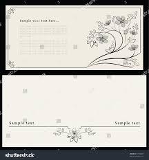 The Invitation Card Artistic Design Invitation Envelope E65 Flower Stock Vector