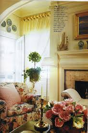 Country Cottage Decor Pinterest by English Room With A Chintz Chair Ivy Topiary Plates On The Wall