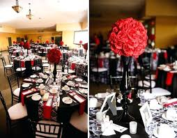 red and white table decorations for a wedding red and black centerpieces for wedding black red and white decor