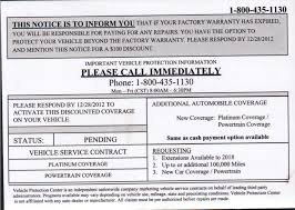 Financial Warranty Letter don t be fooled by this vehicle extended warranty mailer from