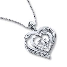 kay jewelers open heart kay colors in rhythm necklace lab created sapphire sterling silver