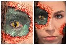Red Halloween Eye Makeup Oops I U0027m A Lizard Halloween Makeup Tutorial Youtube
