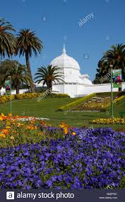 San Francisco Flower Garden by The Conservatory Of Flowers In The Golden Gate Park In San