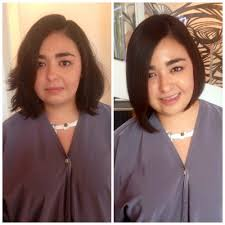 before before and after long bob haircut with ash toner yelp