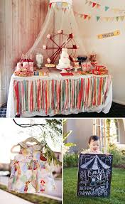 Circus Birthday Decorations Spectacular Vintage Circus Theme First Birthday Hostess With