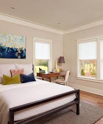 Gray Paint White Trim Bedroom by Painting Crown Molding Bedroom Beach Style With Unframed Art Rod