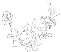 free rose pattern from cottage crafts pillowcase embroidery