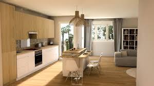 photo de cuisine ouverte sur sejour amenagement cuisine ouverte salon modern aatl agencement sejour