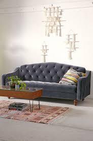 ava velvet tufted sleeper sofa urban outfitters in grey home