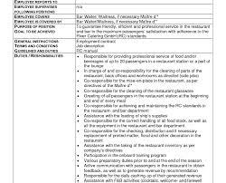 resume cv for restaurant waiter stunning waitress resume