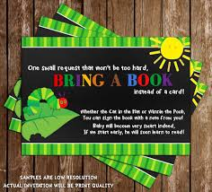 eric carle invitations the very hungry caterpillar baby shower card u2013 frenchkitten net