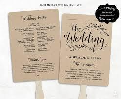 how to make wedding programs wedding programs best 25 printable wedding programs ideas