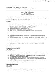 Job Qualifications Resume by Web Design Resume Samples Haadyaooverbayresort Com