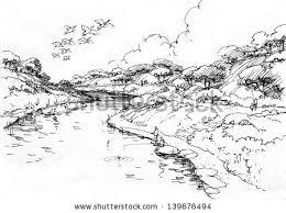 river sketch stock images royalty free images u0026 vectors